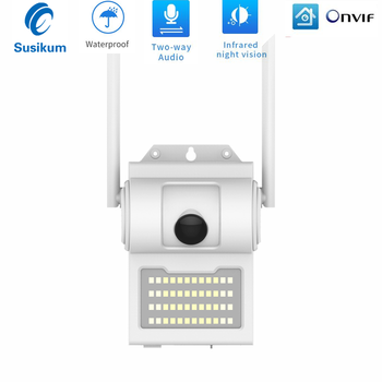 2MP IP Camera WIFI Two Ways AUDIO 3.6mm Lens ONVIF 1080P Waterproof Outdoor Wireless IP Camera Support 128G SD Card owlcat hi3518e sony323 outdoor waterproof wireless bullet ip camera wifi hd 1080p 2mp with audio microphone ir infrared sd card