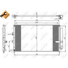 Радиатор кондиционера Honda Civic VII 1.3i Hybrid 16V 05 NRF 358