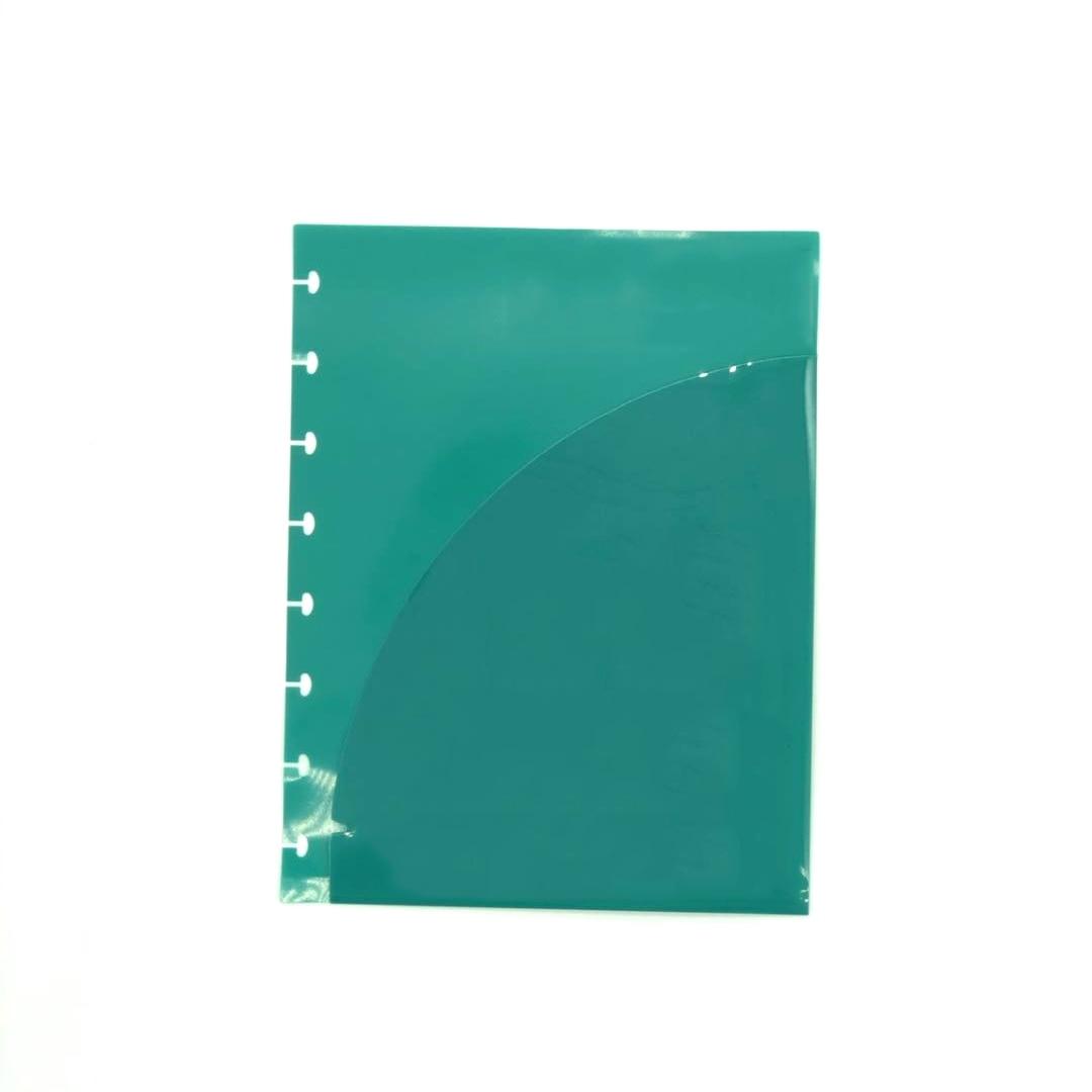 A5+ File Folder Mushroom Ring Binder Loose-leaf Paper Organizer A5 File Bag Document Bag Pvc Storage Bag