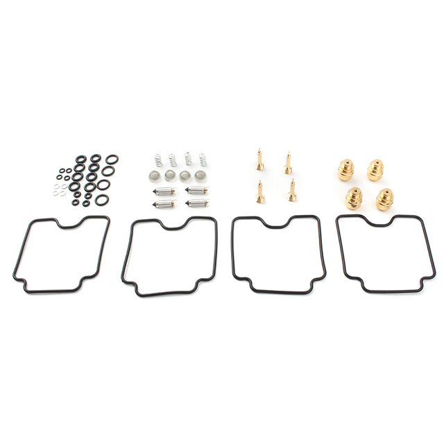 4Sets Motorbike Carburetor Rebuild Repair Kits For Suzuki GSX750F Katana 1998-2006 / GSF1200 Bandit 2001-2006