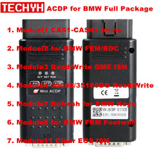 Yanhua мини ACDP программирования мастер уплотнительное кольцо для BMW полный посылка с Module1/2/3/4/7/8/11 всего 7 разрешения