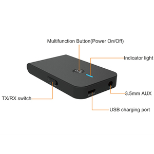 Image 4 - aptX Low latency 5.0 Bluetooth Transmitter Receiver 2 In 1 Audio Wireless Adapter For Car TV PC Speaker Headphone 3.5MM Aux Jack