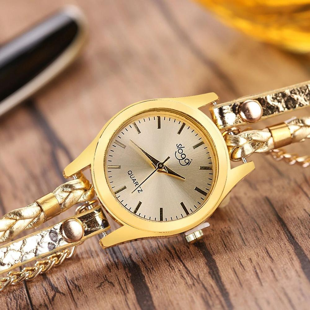 Luxury Brand Women Leather Bracelet Watches Female Womens Wristwatch Ladies Fashion Quartz Watch Gold Zegarek Damski 2020 Reloj