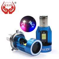 KEIN nouveau H4 LED Angel eyes COB moto phares ampoules H6 ba20d HS1 LED moto phare Scooter accessoires antibrouillard 25W