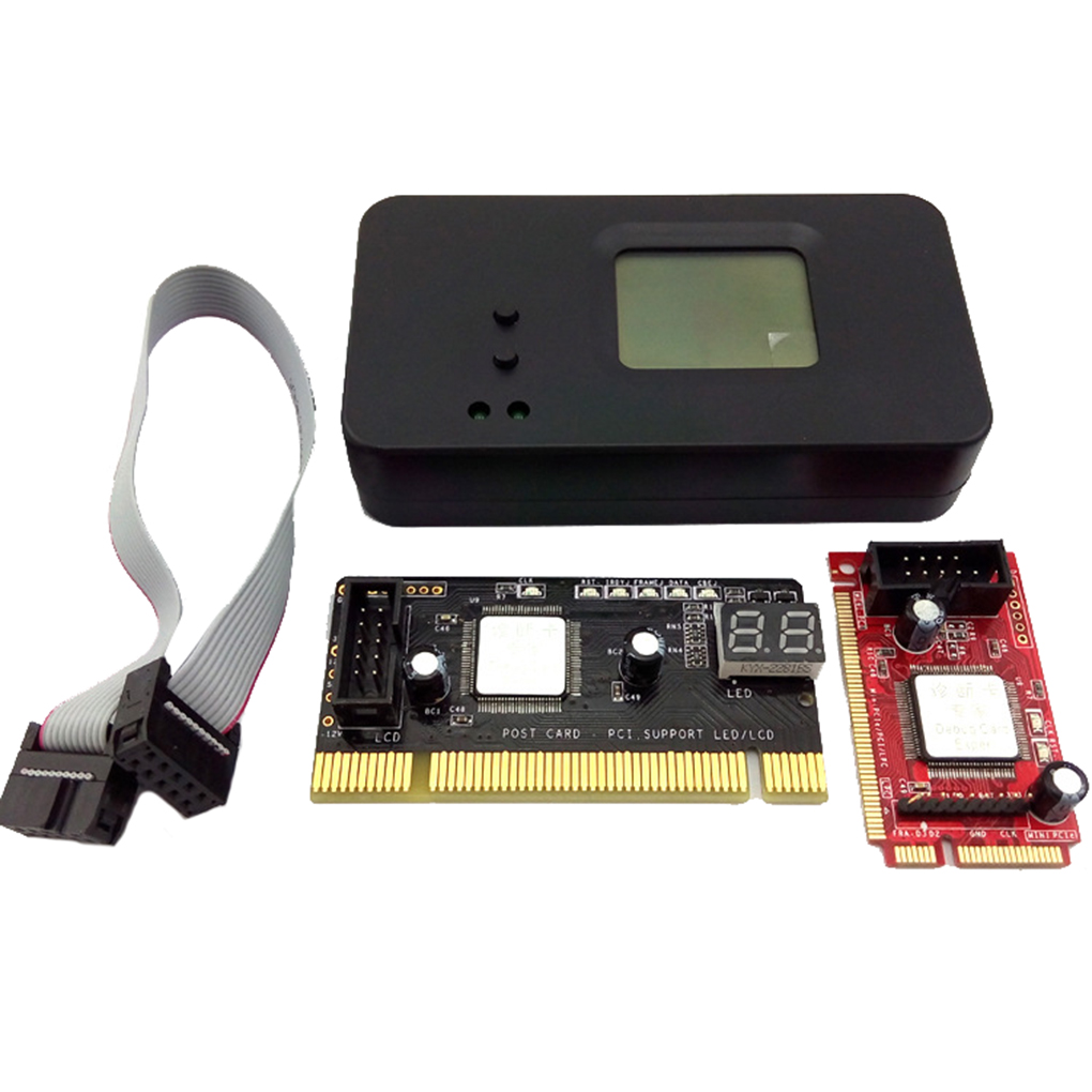 4PCS/Set 4-In-1 PCI/Mini PCI/Mini PCI-E/LPC Desktop Laptop LCD Analyzer Debug Test POST Card