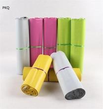 Белая/Розовая/зеленая/желтая цветная сумка конверт для курьерской доставки, сумка для почты, водонепроницаемые пластиковые почтовые пакеты для почтовой отправки