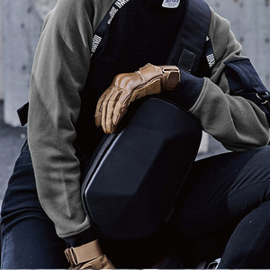 Image 4 - Youpin TAJEZZO Polyhedron PU sırt çantası moda Crossbody çanta su geçirmez eğlence spor göğüs paketi çanta erkek seyahat kamp