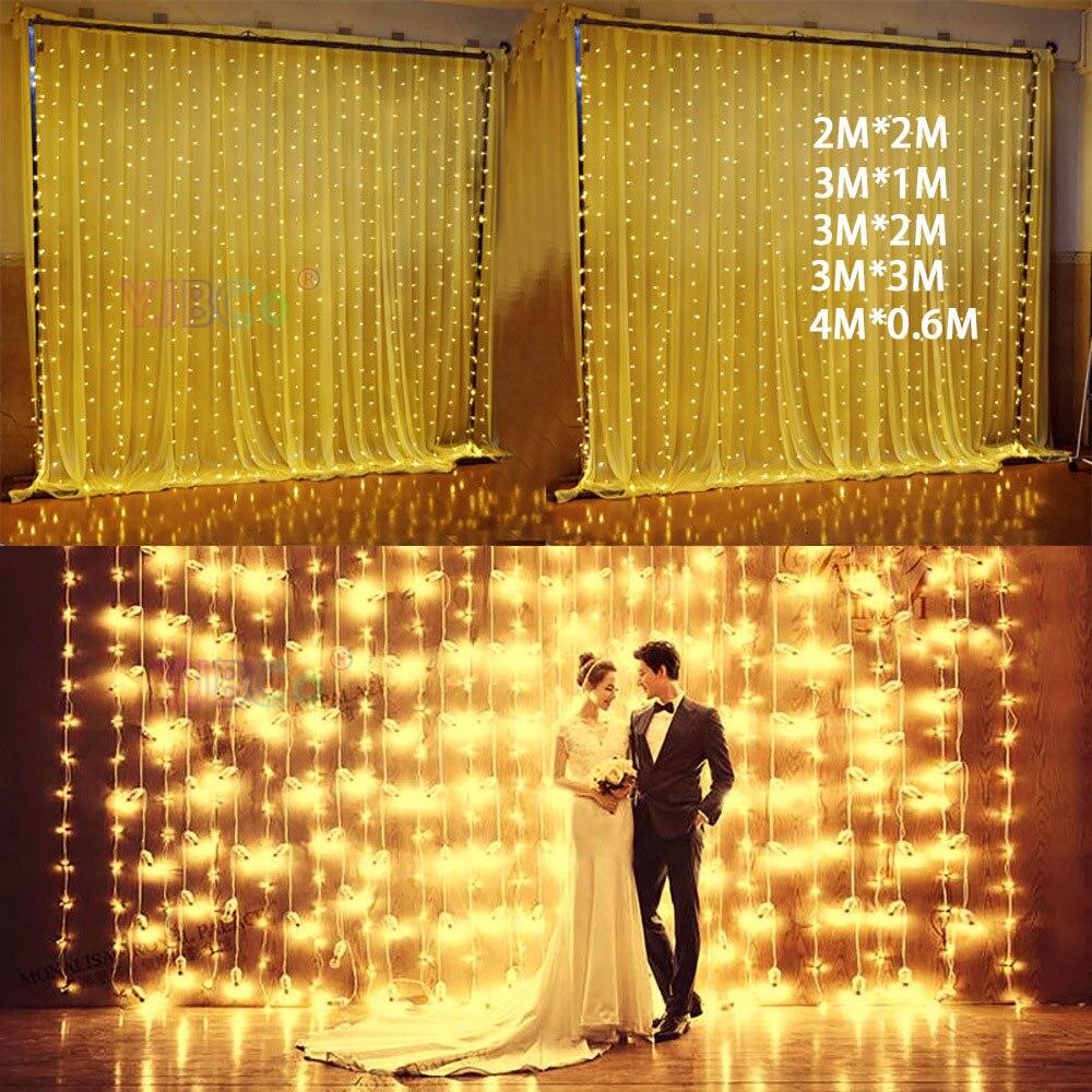 4*0.6/3*1/3*2/3*3m Led Icicle Curtain Fairy String Light Fairy Christmas Light For Wedding Home Party Decoration 220V EU Plug