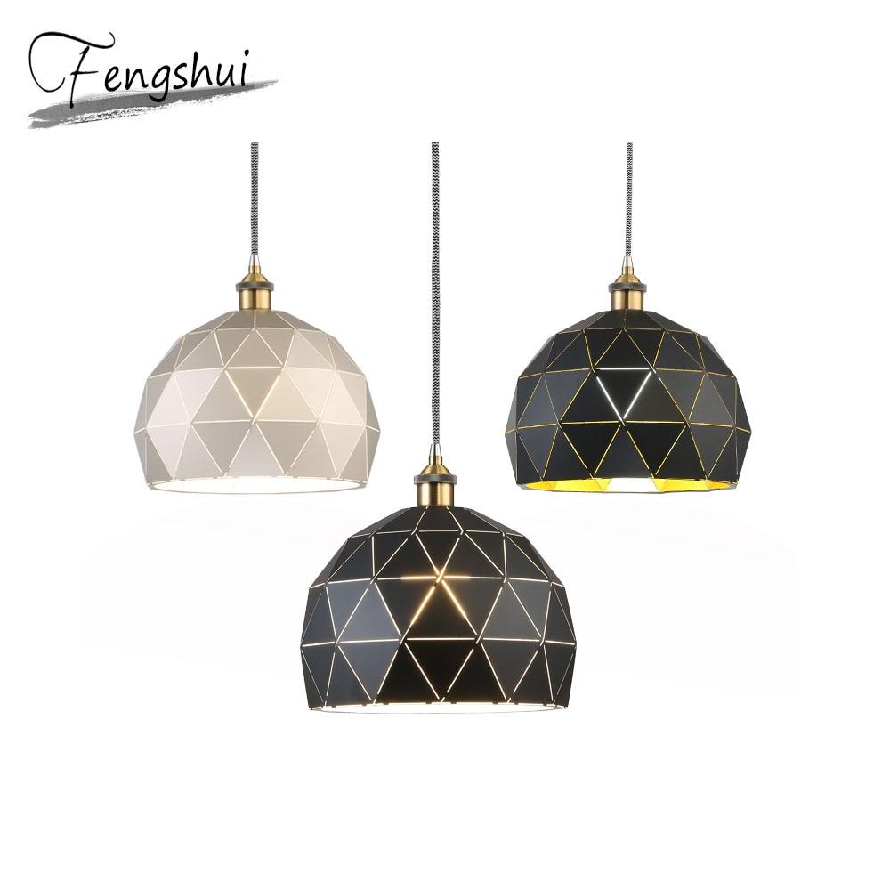 Nordic Iron Pendant Lights Lighting Luxury Pendant Lamp Dining Living Room Bedroom Light Fixture Home Decor Hanging Lamp