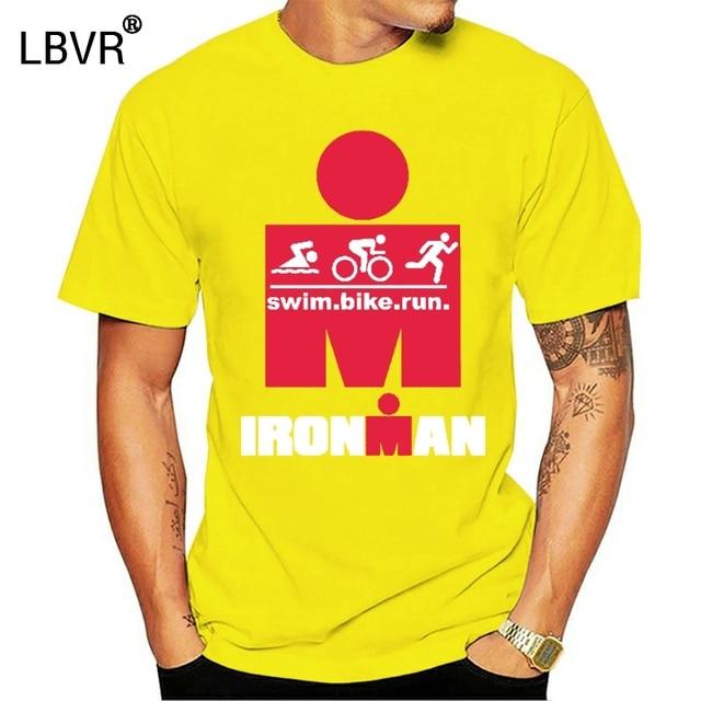 Ironman Triathlon Finisher Cycle Run Swim Gym Sports Wear Mens Black T-Shirt