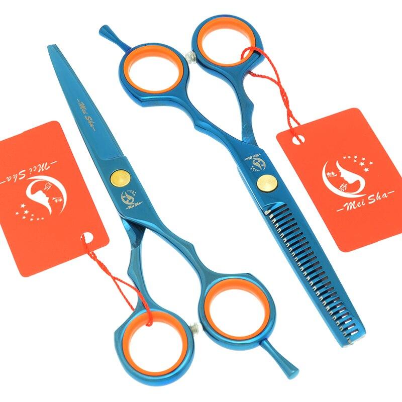 Meisha 5,5 дюймов Профессиональный инструмент для стрижки волос филировка Стайлинг японский 440c набор парикмахерских ножниц ножницы для парикм...