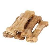 Cão de brinquedo do cão mastiga brinquedos suprimentos couro osso molar dentes limpo vara alimentos trata cães ossos para cachorro acessórios