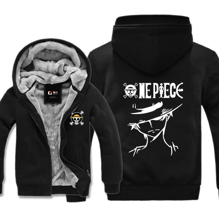 2019 new one piece print pattern men's winter thick warm fleece zipper men's pullover jacket sportswear men street clothing hood