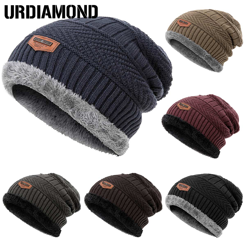 URDIAMOND Knitted Hats Beanies-Bonnet Skullies Warm Cotton Unisex Fashion Soft Men Men's