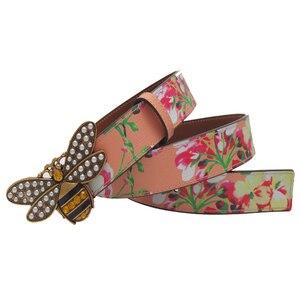 Image 2 - Cinturón de cuero con hebilla de abeja y diamantes de imitación para mujer