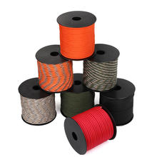 550 Military 50M 7-Core Paracord Rope 4mm Outdoor Polyester Parachute Cord Camping Survival Umbrella Tent Bundle