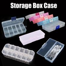 Plastic Small Storage Box Special Manicure Tool Nail Art Container Home Organizer Gems Brush Pen Case Makeup Container Boxes cheap Liplasting Support plastic box transparent box gift packaging box PP box clear box packing box random color