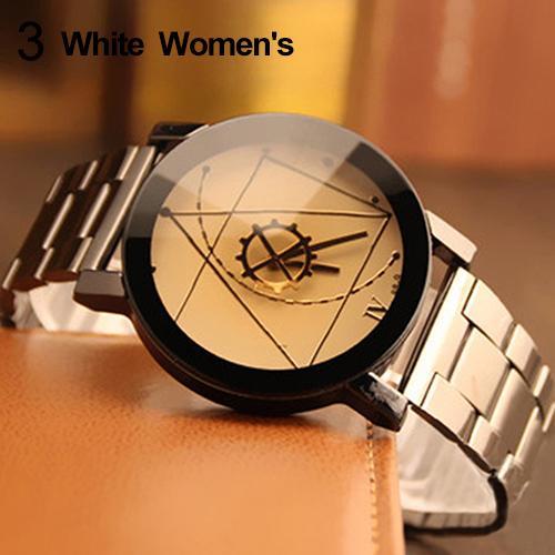 Парные часы, парные мужские и женский компас, стрелки, браслет из нержавеющей стали, аналоговые кварцевые наручные часы, парные часы, парные ...