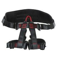 Outdoor Half Length Waist Seat Belt Harness Rock Climbing Downhill Aerial Work Development Training Rescue Seat Belt -