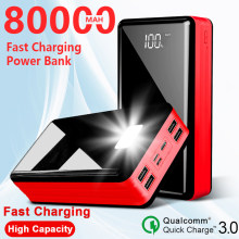 80000 MAh Power Bank Portable Travel Powerbank for Xiaomi / Samsung / IPhone Poverbank Mobile Phone Fast Charger High Capacity