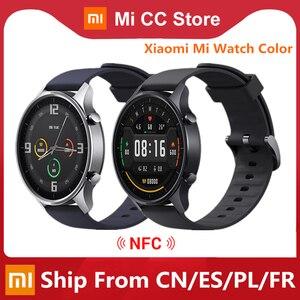 Оригинальные Смарт-часы Xiaomi цветной GPS фитнес-трекер монитор сердечного ритма NFC спортивный браслет 1,39 дюймов Bluetooth 5,0 умные часы