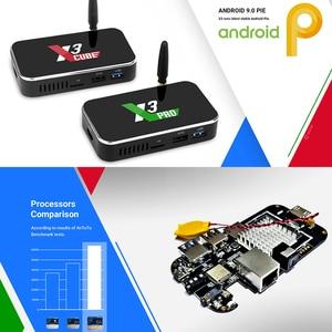 Image 3 - X3プロX3キューブスマートアンドロイドテレビボックスアンドロイド9.0 S905X3スマートtvボックスX3プラス4 18k androidボックス4ギガバイトDDR4 64ギガバイトrom 2.4グラム/5グラムwifi 1000メートル