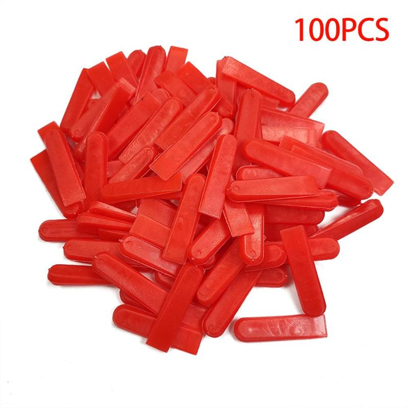 100pcs/set  Plastic Tile Leveling System Level Wedges Tile Spacers For Flooring Wall Laying Flat Tile Leveling System