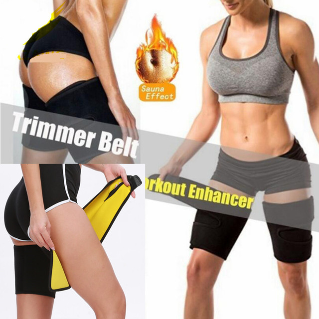 1 Pair Leg Belt Sweat Thigh Trimmer Sweat Band Leg Slimmer Weight Loss Neoprene Gym Workout Corset Thigh Yoga shorts 1