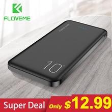 FLOVEME 10000mAh Power Bank przenośna ładowarka telefon cyfrowy wyświetlacz zewnętrzny zestaw akumulatorów podwójny USB szybki ładowanie Powerbank