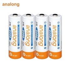 2 16本の単三充電式バッテリー1.2vニッケル水素2A電池充電式時計おもちゃカメラ