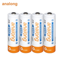 2 16pcs AA rechargeable battery 1.2v ni mh 2A batteries rechargeable for clock toy camera