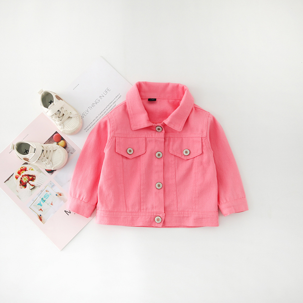 H426cec382336489aa8f39f55cfbf063b8 - Brand New Baby Girls Boys Candy Color Denim Jacket Kids Cotton Casual Jeans Jackets Children Clothes 1-10age