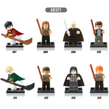 Single Sale Super Heroes Harry Potter Hermione Jean Granger Ron Weasley Lord Voldemort Building Blocks Toys for children X0121(China)