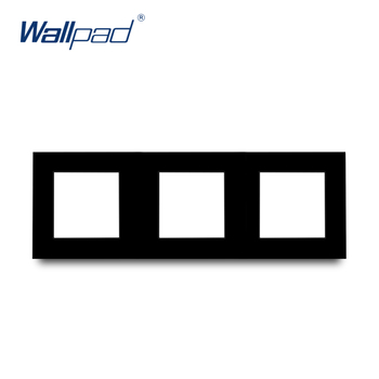 S6 Series Glass Switch and Socket DIY Combination Wall Button Light witch Power Outlet Socket Crystal Black Glass DIY Wallpad 9