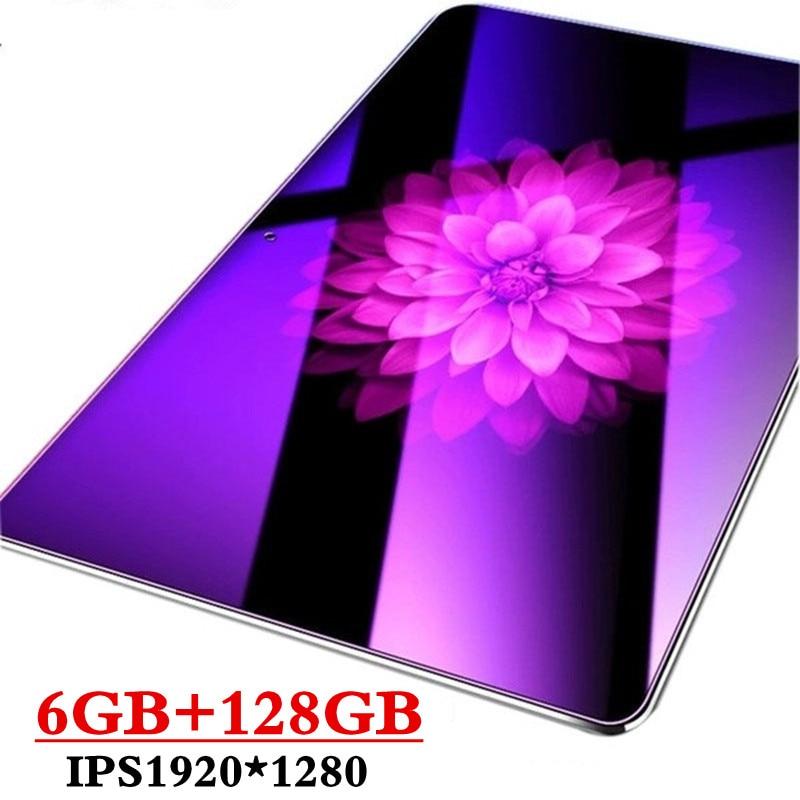 2019 Neue Google Spielen Android 9.0 OS 10,1 Zoll Tablet Octa Core 6GB RAM 128GB ROM 2.5D Glas WIFI Tabletten Dual SIM Karte 3G 4GLTE