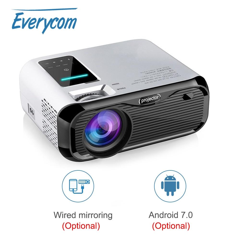 Everycom E500 мини-проектор светодиодный 720P LCD Android Wifi опция портативный видеопроектор Поддержка 1080P домашний кинотеатр HDMI-совместимый