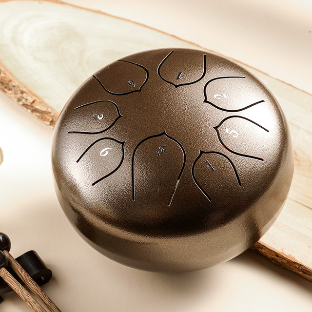 Hluru Drum Ethereal Rhythm Steel Tongue Drum 6 Inch Drum 8 notes Tone C Percussion Hand Pan Drum Instrument Musical Instruments 1