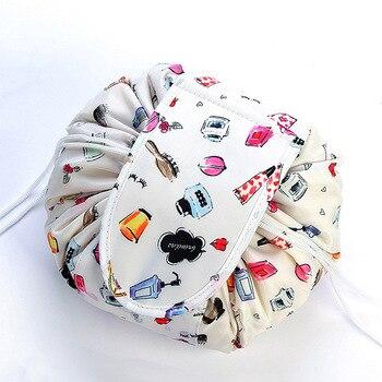 La nueva bolsa de cosméticos con cordón para mujeres bolsa de maquillaje...
