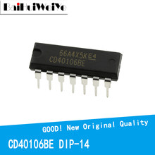 10PCS/LOT CD40106BE CD40106 40106BE DIP-14 40106 New Original IC Good Quality Chipset In Stock DIP14