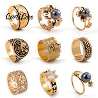 Cring Coco-anillo chapado en oro para mujer, joyería CZ de flores polinesianas hawaianas, tamaño étnico 8 10 11, regalos 2021