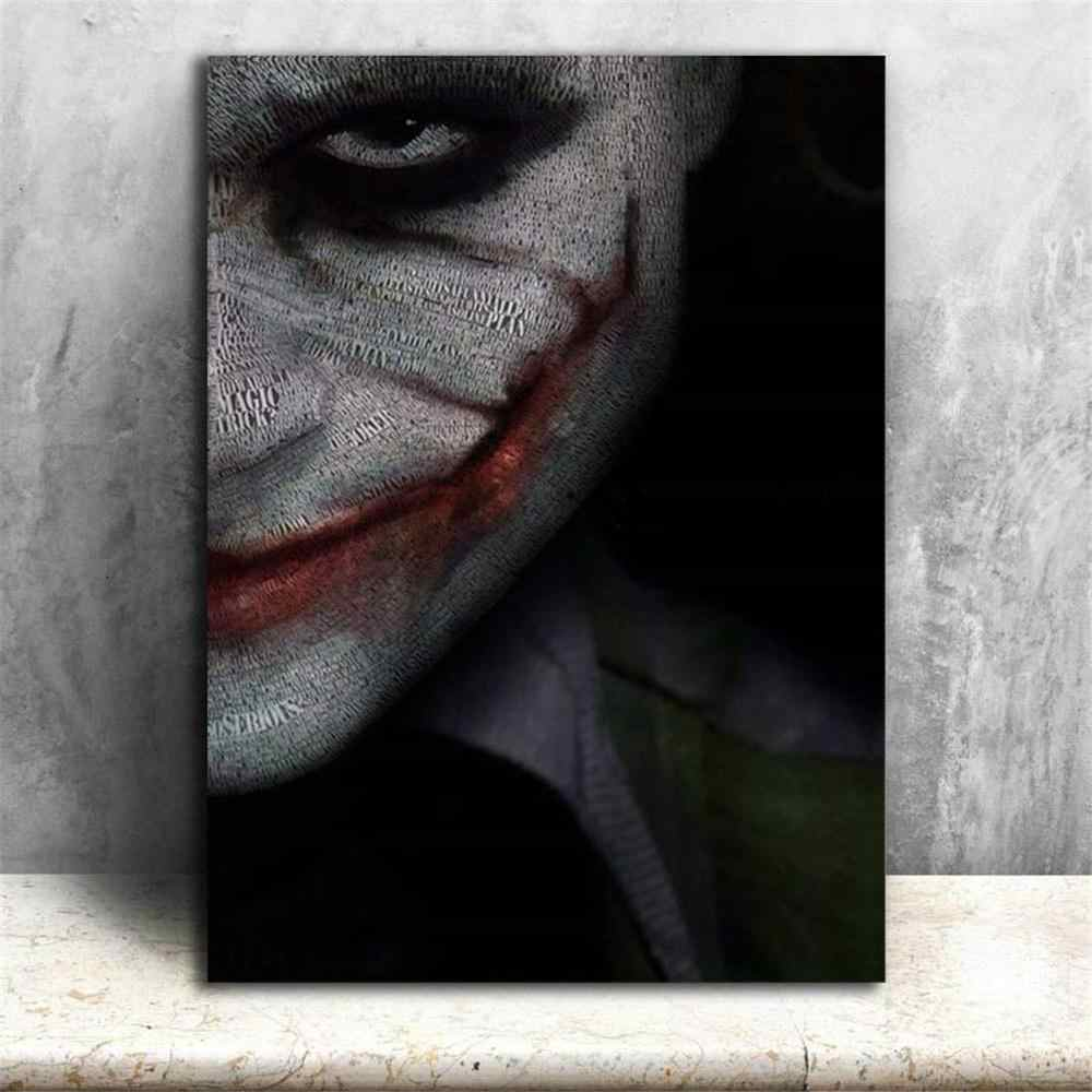 Wall Art Painting Canvas The Dark Knight Movies Joker Posters Modern Art Picture Printed Home Decor for Living Room No Frame