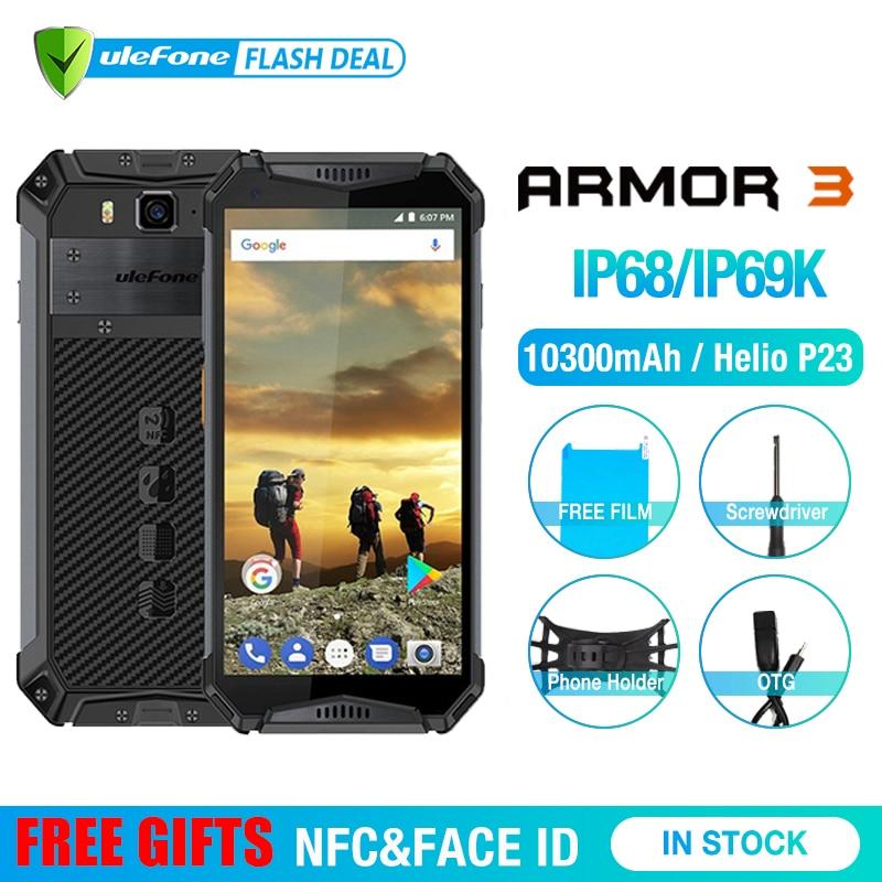 "Ulefone Armor 3 IP68 Waterproof Mobile Phone Android8.1 5.7"" FHD+ Octa Core 4GB+64GB NFC 21MP 10300mAh Global Version Smartphone"