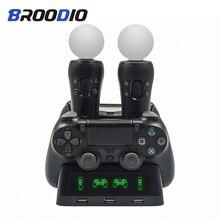 PS4 PS Di Chuyển VR PSVR Joystick Chơi Game Sạc 4 Trong 1 Chân Đế Điều Khiển Đế Sạc Đứng Dành Cho Playstation PS4 PSVR Di Chuyển