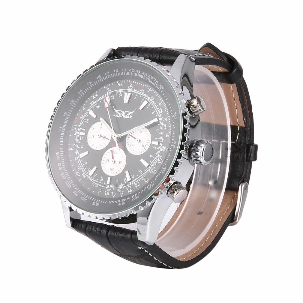Jaragar Multifunctional Men Watch Automatic Mechanical Stainless Steel Case Auto Date Clock Hollow Back Wrist Big Dial Clock|Mechanical Watches| |  - title=