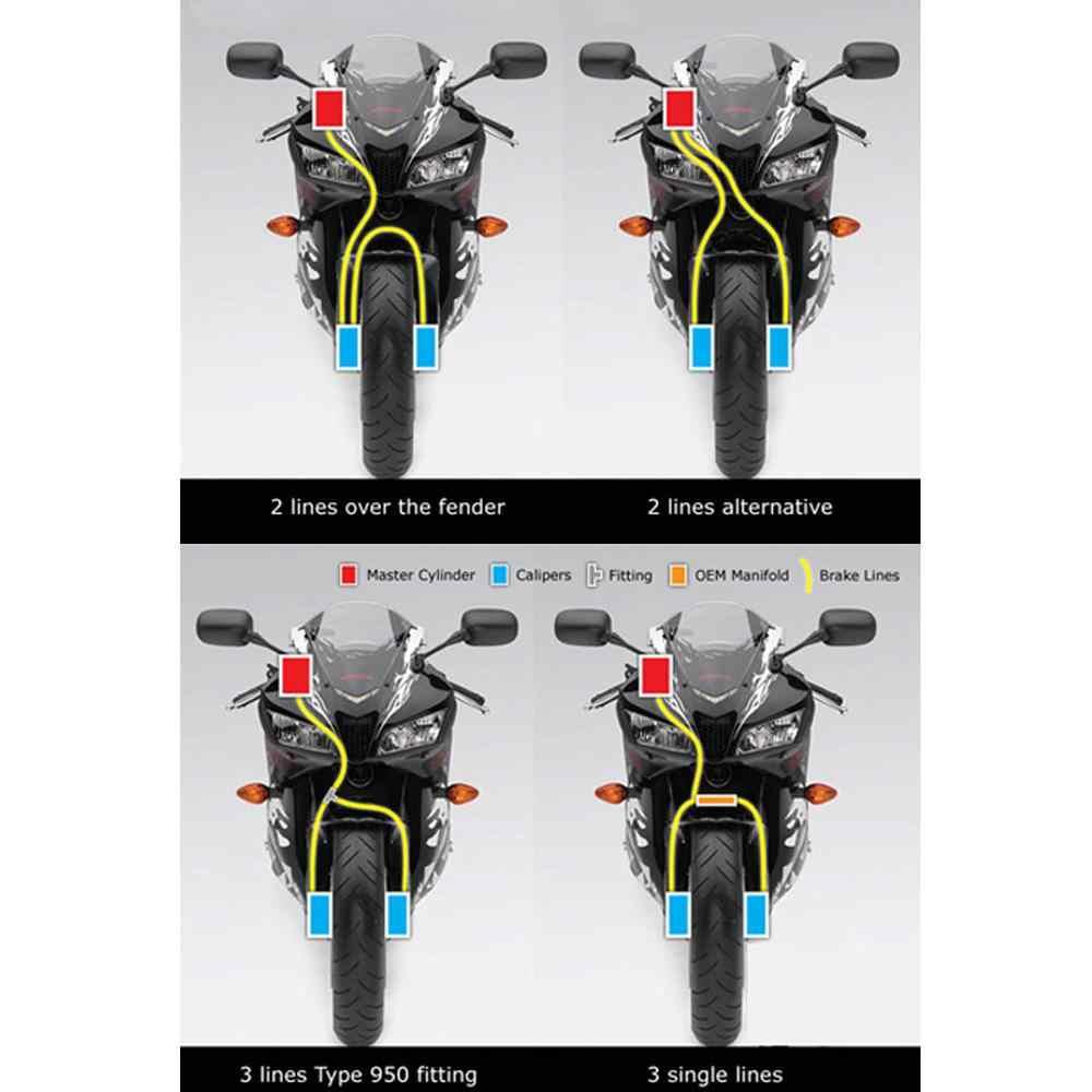 HiMISS 50 60 70 80cm motocicleta Dirt bicicleta trenzada acero hidráulico refuerzo freno línea embrague aceite tubo manguera