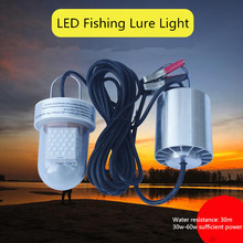 30W 60W Led Fishing Light Ip68 Waterproof Underwater Lighting for Fishing Lure 12v Submersible Night Fishing Lights Fish led new arrival women wallets high quality female long purse lattice women s coin wallet lady clutch cell phone pocket big promotion