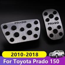 Aluminium voiture pied carburant pédales accélérateur frein pédale couvre pour Toyota Land Cruiser Prado 150 2010 2016 2017 2018 2019 2020