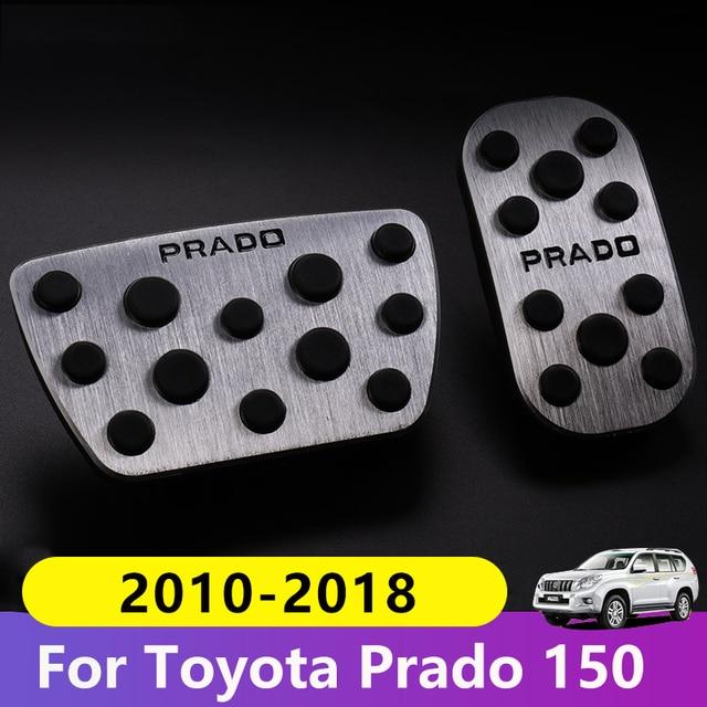 Aluminum Car Foot Fuel Pedal Accelerator Brake Pedal Pad Covers For Toyota Land Cruiser Prado 150 2010 2015 2016 2017 2018 2019