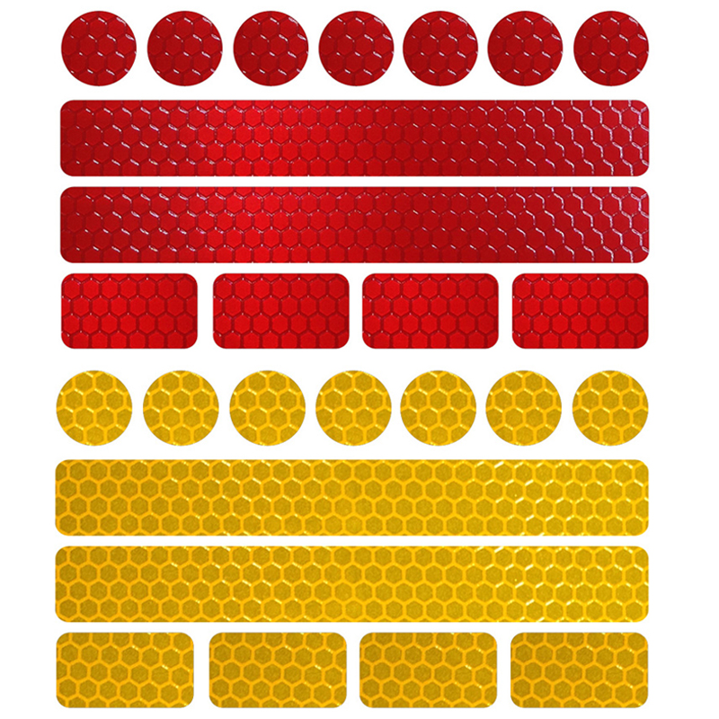 10pieces/lot Reflective Bicycle Stickers Adhesive Tape For Bike Safety White Red Yellow Blue Bike Stickers Bicycle Accessories
