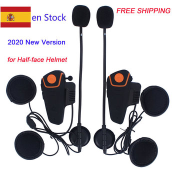 2020 Version BT-S2 1000m 30M IPX7 Waterproof Moto Helmet Bluetooth Wireless Headset Motorcycle bluetooth intercom for motorcycle